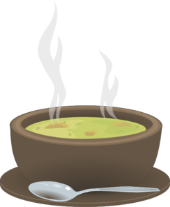 hot steaming bowl of soup