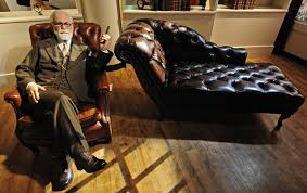 Freud-like person - psychotherapy therapist patient couch